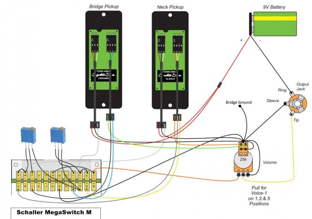 Fishman Fluence Wiring Translation From Otax To Megaswitch M - Electronics Chat